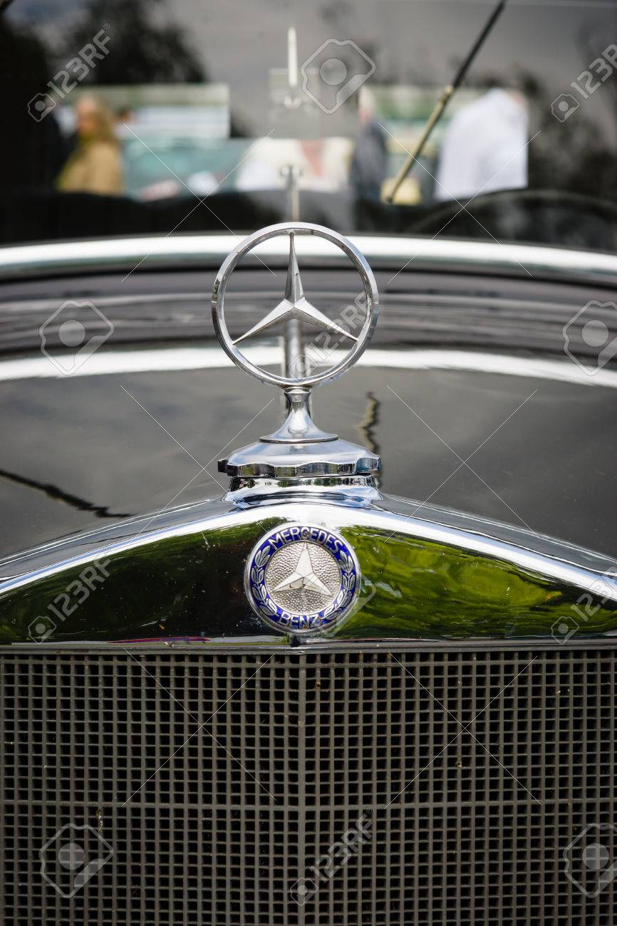 Berlin Germany May 17 2014 Hood Ornament Of The Luxury Car