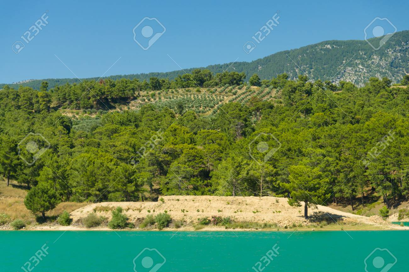 Picture of: Green Lake In The Taurus Mountains Oymapinar Antalya Province Stock Photo Picture And Royalty Free Image Image 30864606