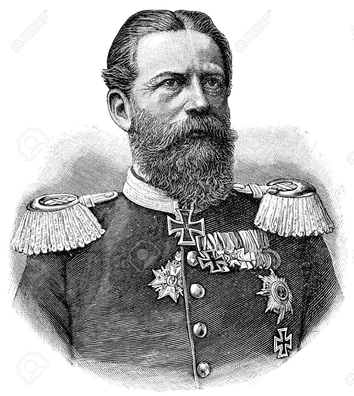 """Portrait of Frederick III, German Emperor. Publication of the book """"A Century in the text and pictures"""", Berlin, Germany, 1899 - 32910441"""