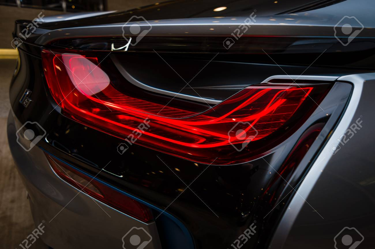 Berlin November 28 2014 Showroom The Rear Lights Of The Stock