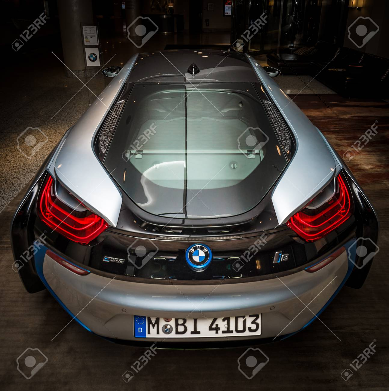 Berlin November 28 2014 Showroom The Bmw I8 First Introduced