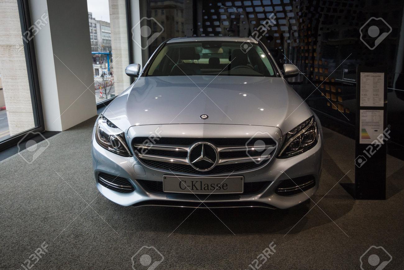 Berlin January 24 2015 Showroom Compact Executive Car Mercedes