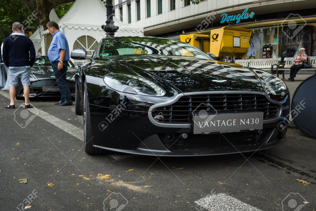Berlin June 14 2015 Luxury Sports Car Aston Martin V8 Vantage Stock Photo Picture And Royalty Free Image Image 42902413