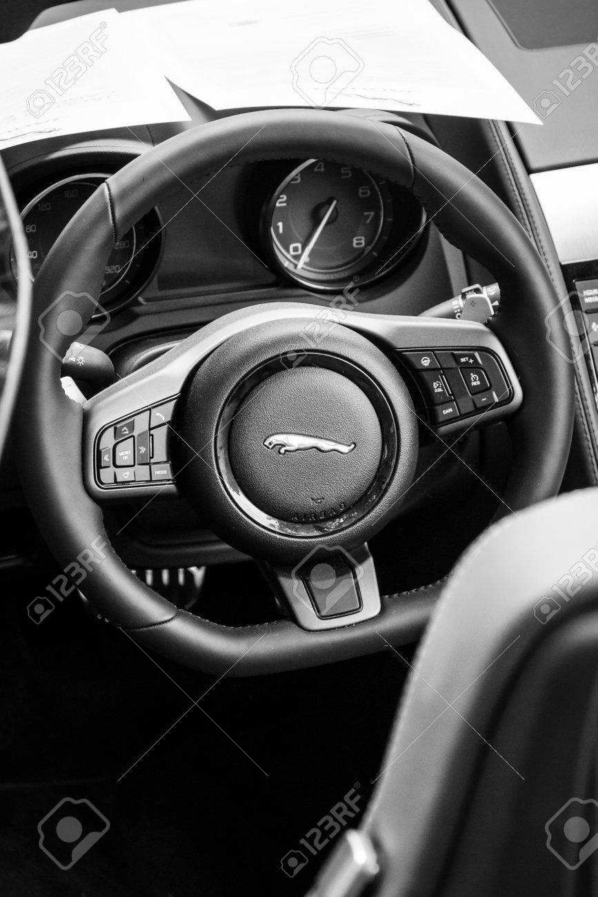 Berlin June 14 2015 Cabin Of The Sports Car Jaguar F Type