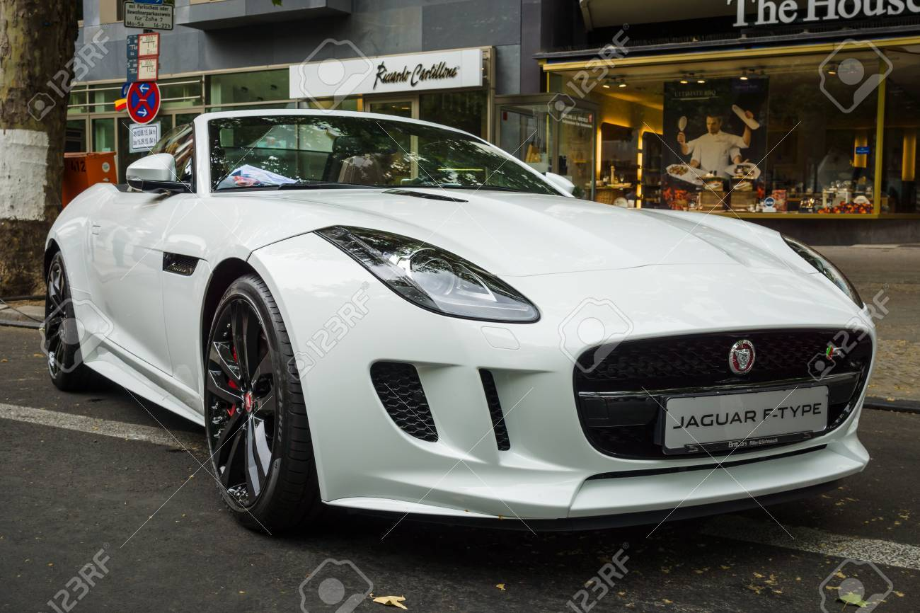 BERLIN   JUNE 14, 2015: Sports Car Jaguar F Type V8S Convertible (