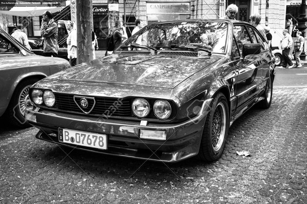 Berlin June 14 2015 Sports Car Alfa Romeo Gtv6 Black And