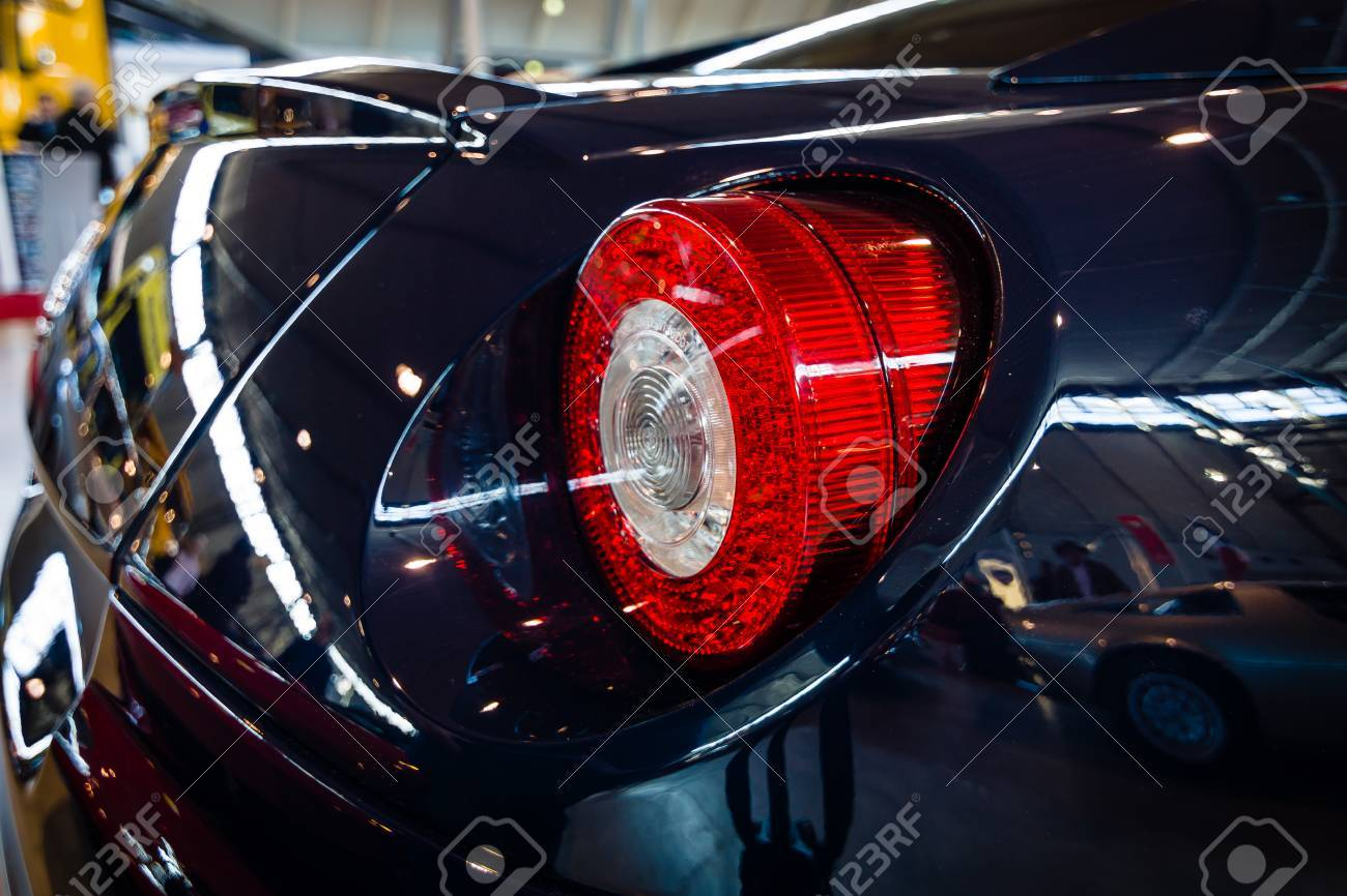Stuttgart Germany March 18 2016 The Rear Brake Lights Of