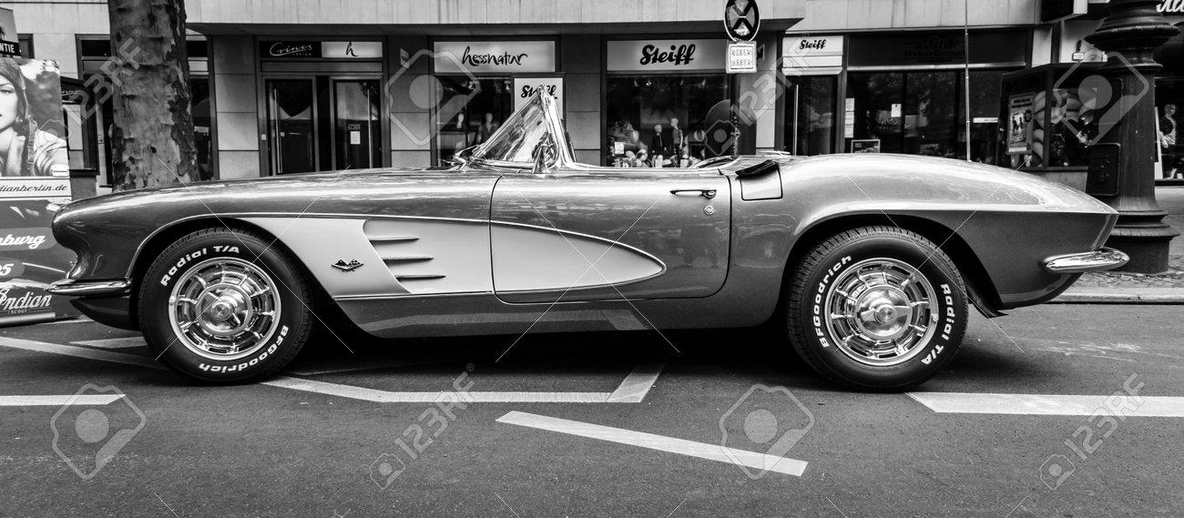 Berlin June 05 2016 Sports Car Chevrolet Corvette C1 Black