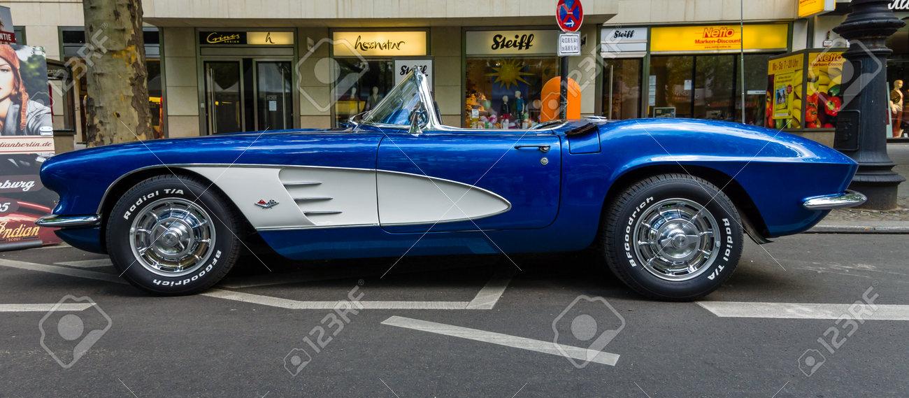 Berlin June 05 2016 Sports Car Chevrolet Corvette C1 Classic