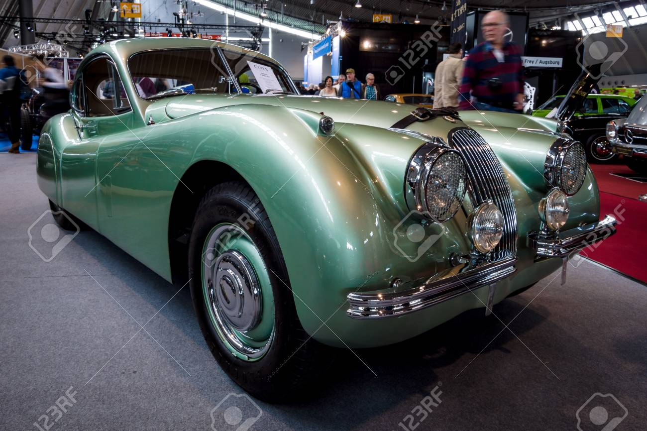 STUTTGART, GERMANY   MARCH 03, 2017: Sports Car Jaguar XK120 Coupe, 1953