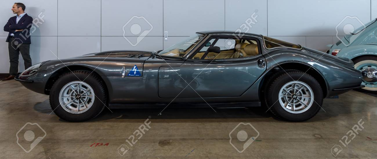 STUTTGART, GERMANY   MARCH 03, 2017: Sports Car Marcos 3000 GT, 1969