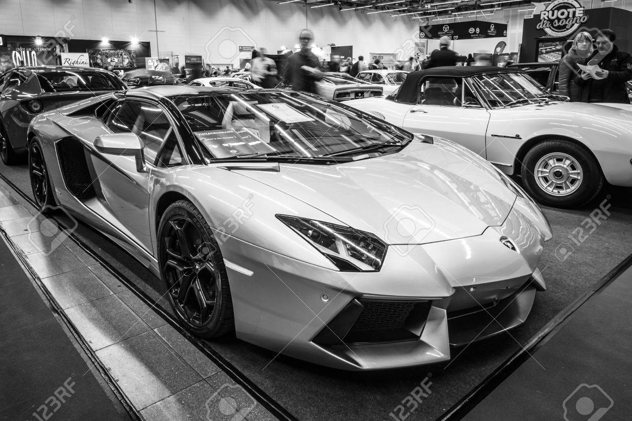 Stuttgart Germany March 03 2017 Sports Car Lamborghini Aventador Stock Photo Picture And Royalty Free Image Image 77556986