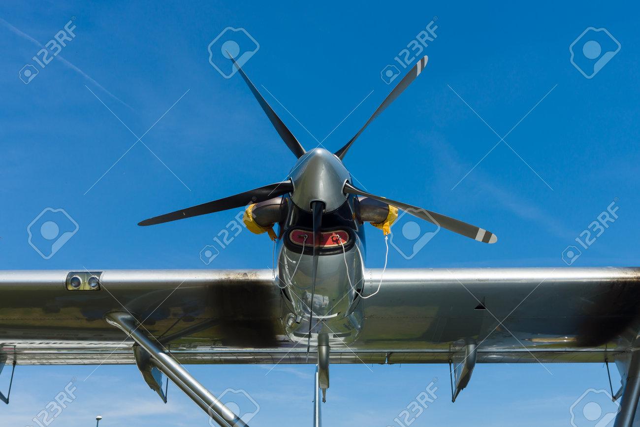 BERLIN, GERMANY - MAY 21, 2014: Turboprop engine Pratt & Whitney