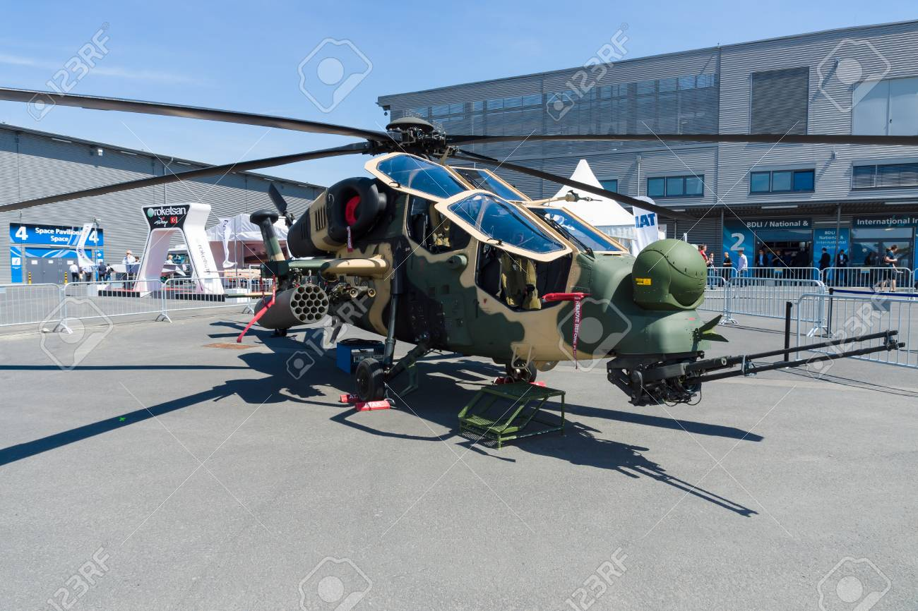 Elicottero T 129 : Berlin germany may 21 2014: attack helicopter tai agustawestland