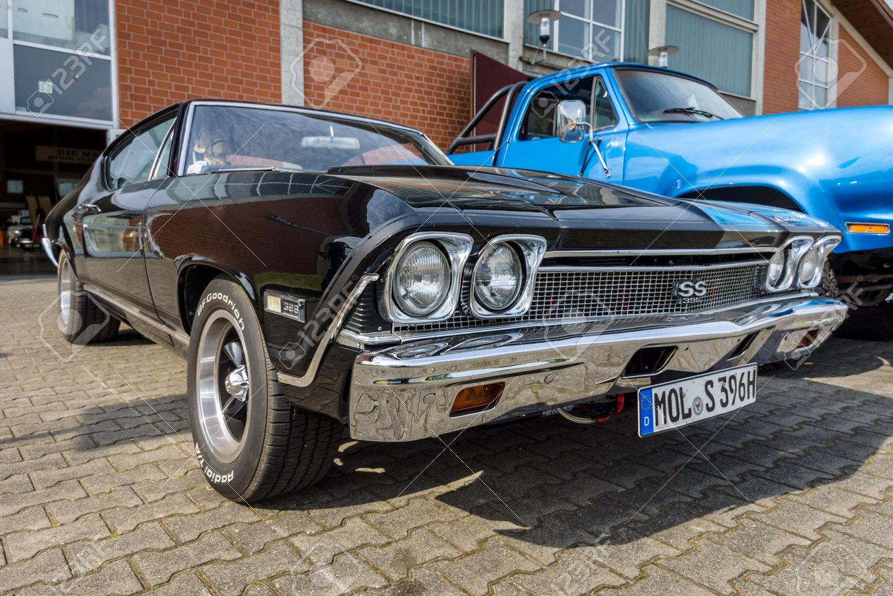 Paaren Im Glien Deutschland 3 Juni 2017 Mittelgroes Chevrolet 1966 Chevelle Ss 396 Ss396 Hardtop
