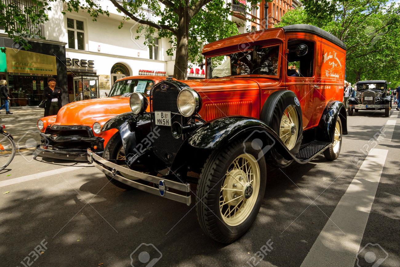 BERLIN - JUNE 17, 2017: Vintage Car Ford Model A Panel Truck ...