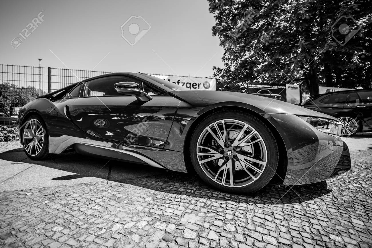 Berlin May 06 2018 A Plug In Hybrid Sports Car Bmw I8 Black