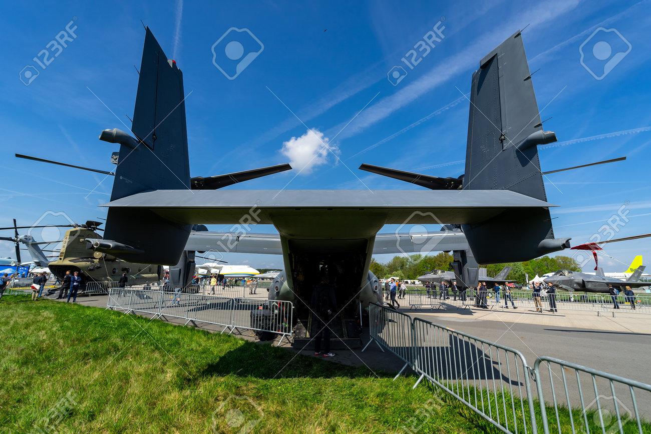 Berlin germany april 27 2018: v stol military transport aircraft