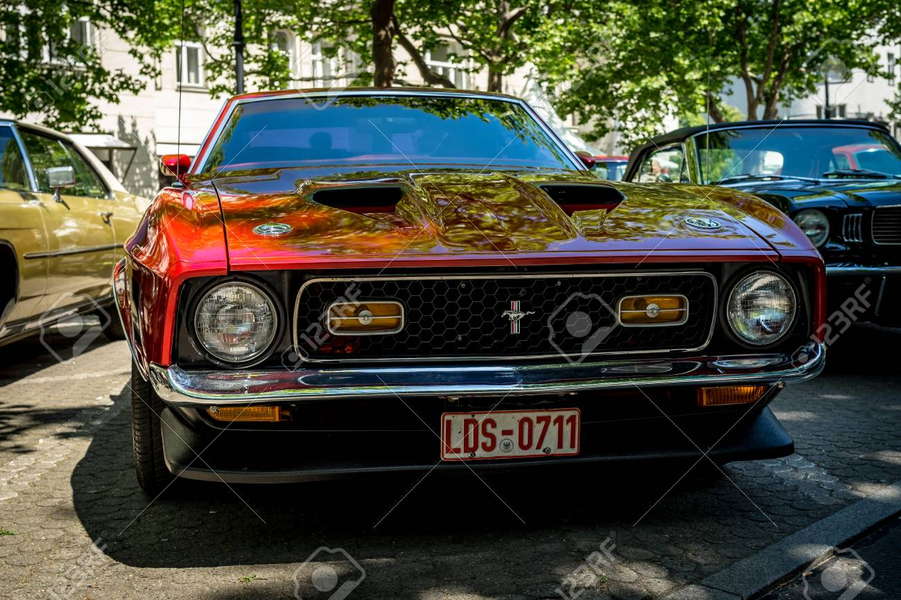 2018 Mustang Mach 1 >> Berlin June 09 2018 Muscle Car Ford Mustang Mach 1 1971