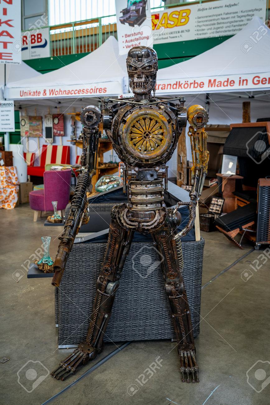 Paaren Im Glien Germany May 19 2018 Modern Art Robot Transformer