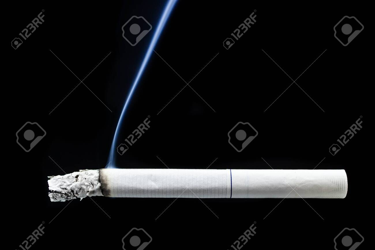 Smoke And Cigarette On Black Background Cigarette Smoke On Black Stock Photo Picture And Royalty Free Image Image 124318725