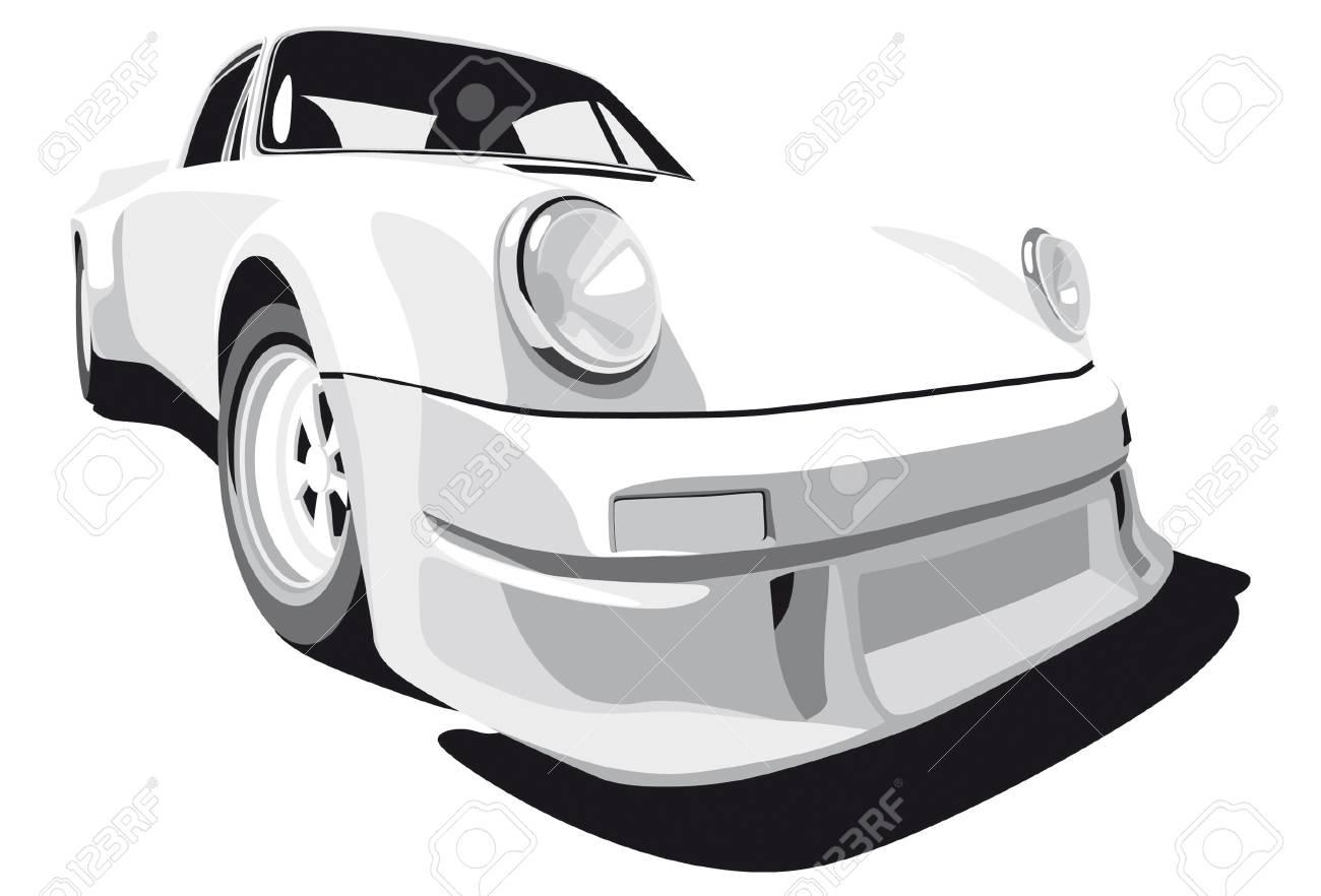 Vectorial image of Porsche 911 (1973 year) Stock Vector - 5747965