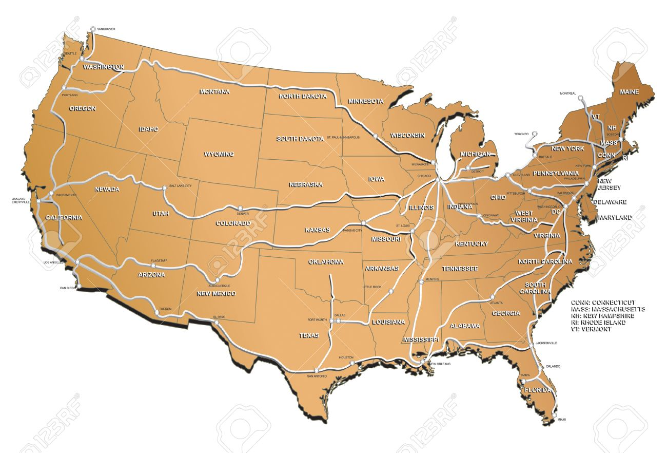 Usa Map With Cities World Map Usa Map Bing Images Usa Map With - Usa map with cities image