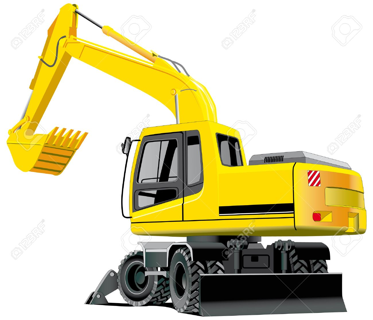 detailed vectorial image of excavator isolated on white background Stock Vector - 6010326