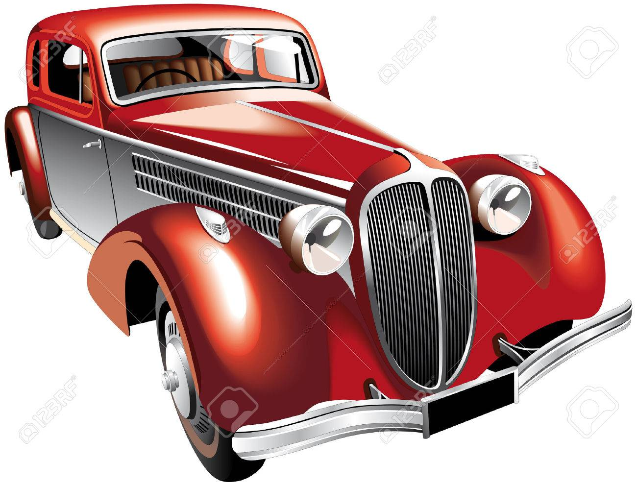 Detailed Vectorial Image Of Luxurious Old-fashioned Right-hand ...