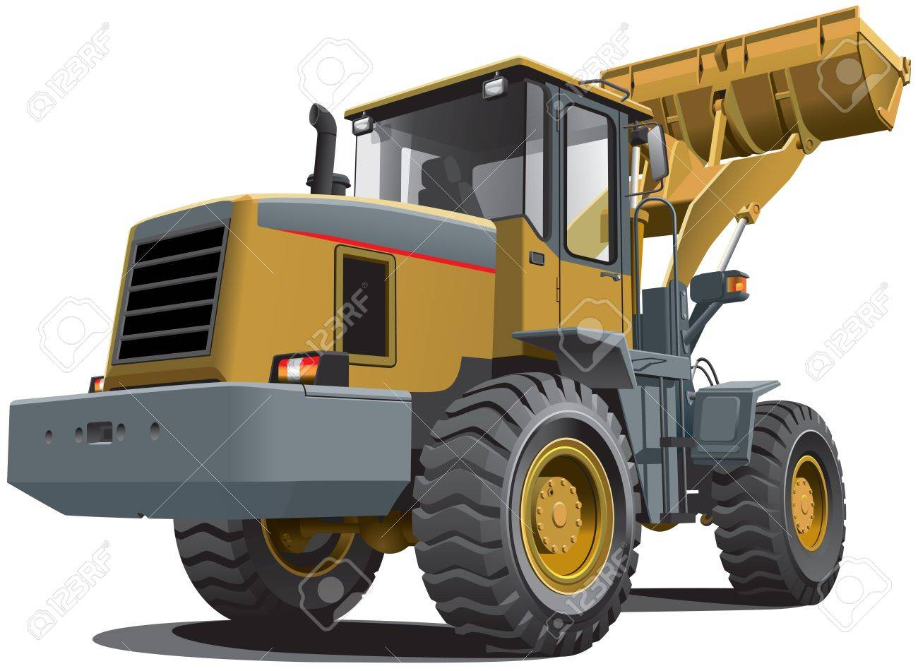 Detailed vectorial image of pale brown loader, isolated on white background. Contains gradients. Stock Vector - 14616294