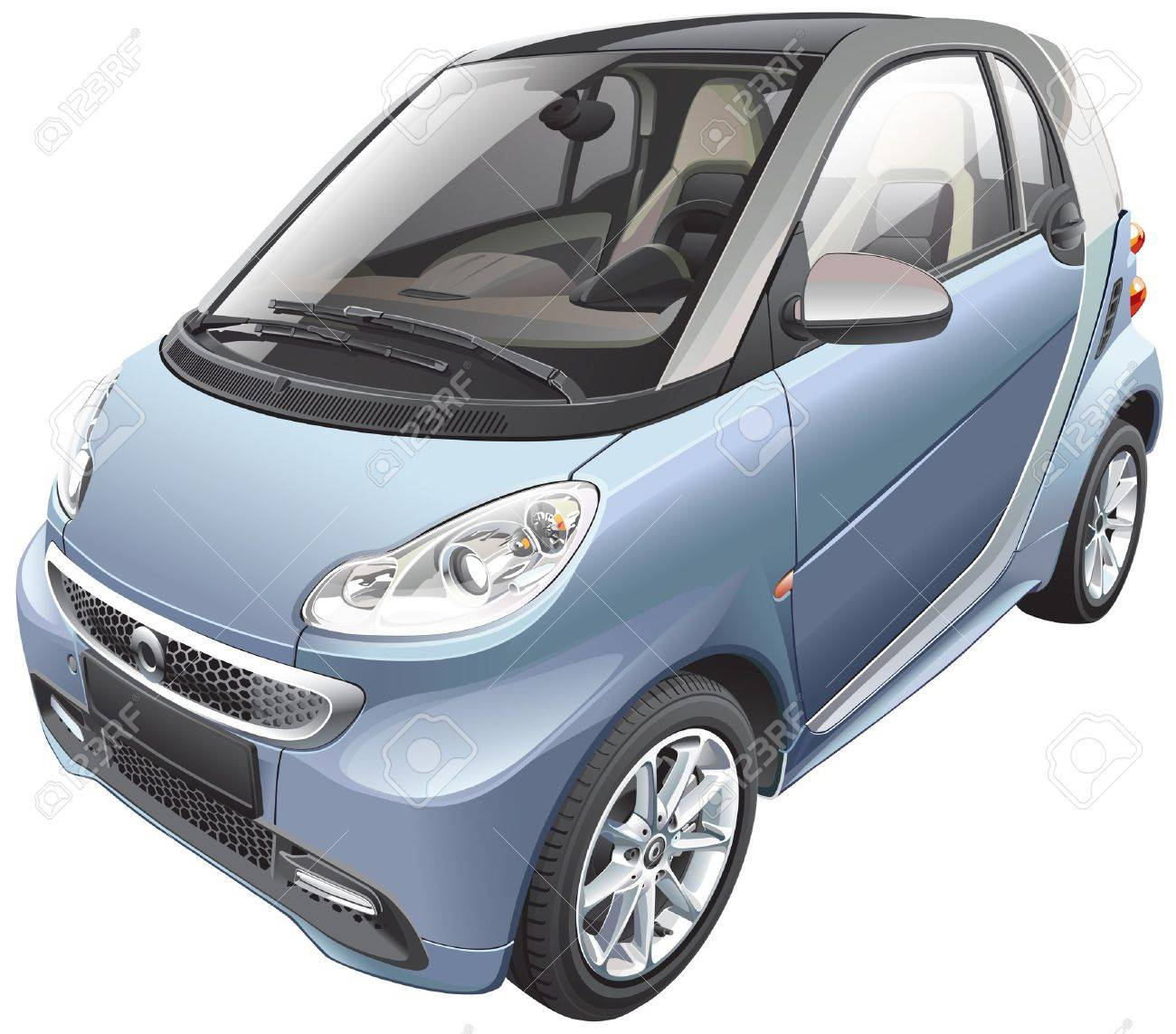 Detail image of modern subcompact car Stock Vector - 17313871