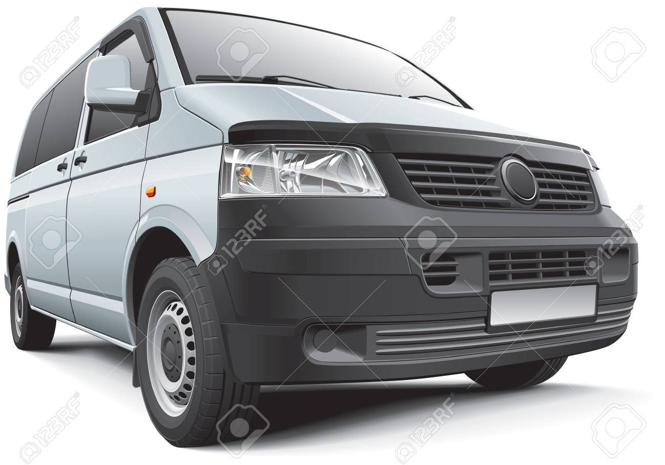 Detail vector image of Germany light commercial vehicle, isolated on white .File contains gradients, blends and transparency  No strokes  Easily edit  file is divided into logical layers and groups Stock Vector - 23314427