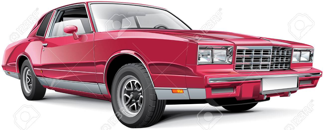 Detail vector image of vintage American coupe, isolated on white background Stock Vector - 26585139