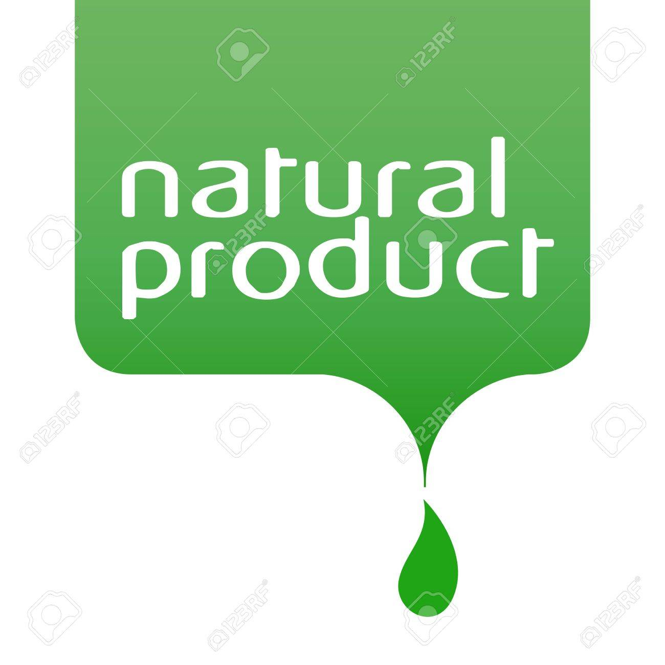 conceptual drop of the natural product Stock Vector - 18561985