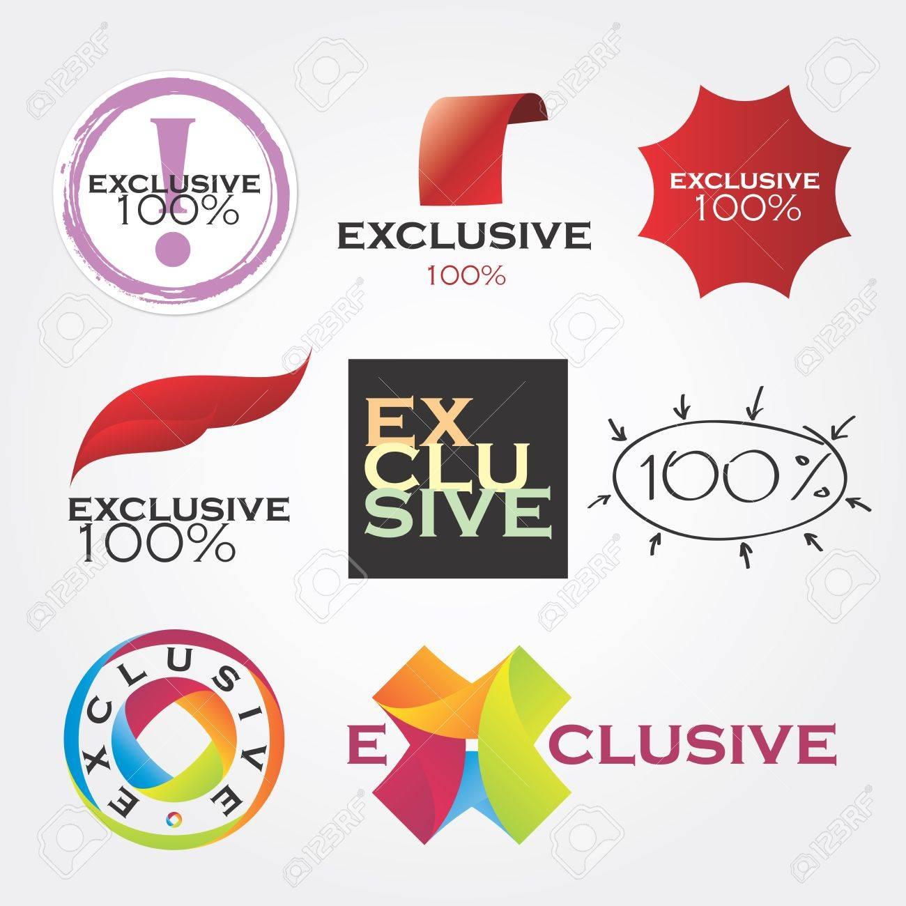 exclusive icon Stock Vector - 18563878