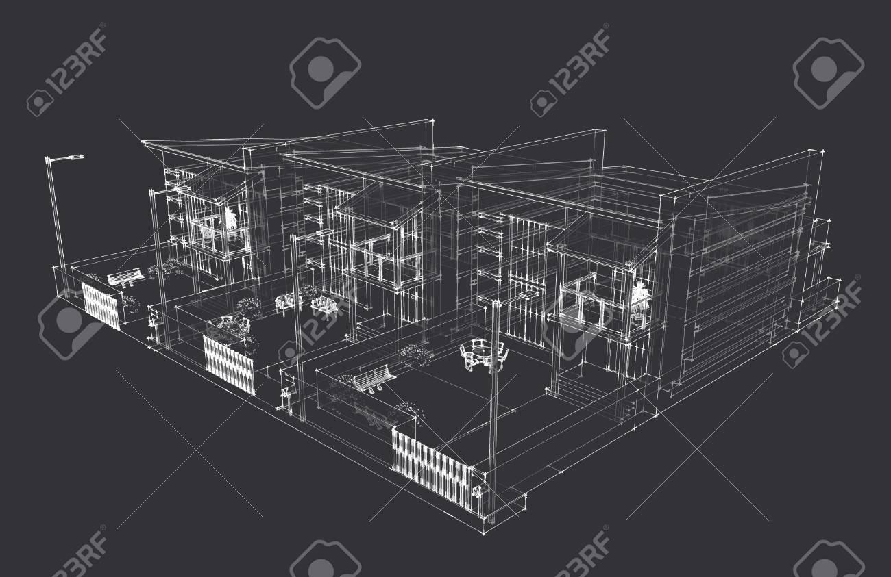 3d home design tripliks Stock Photo - 18561972
