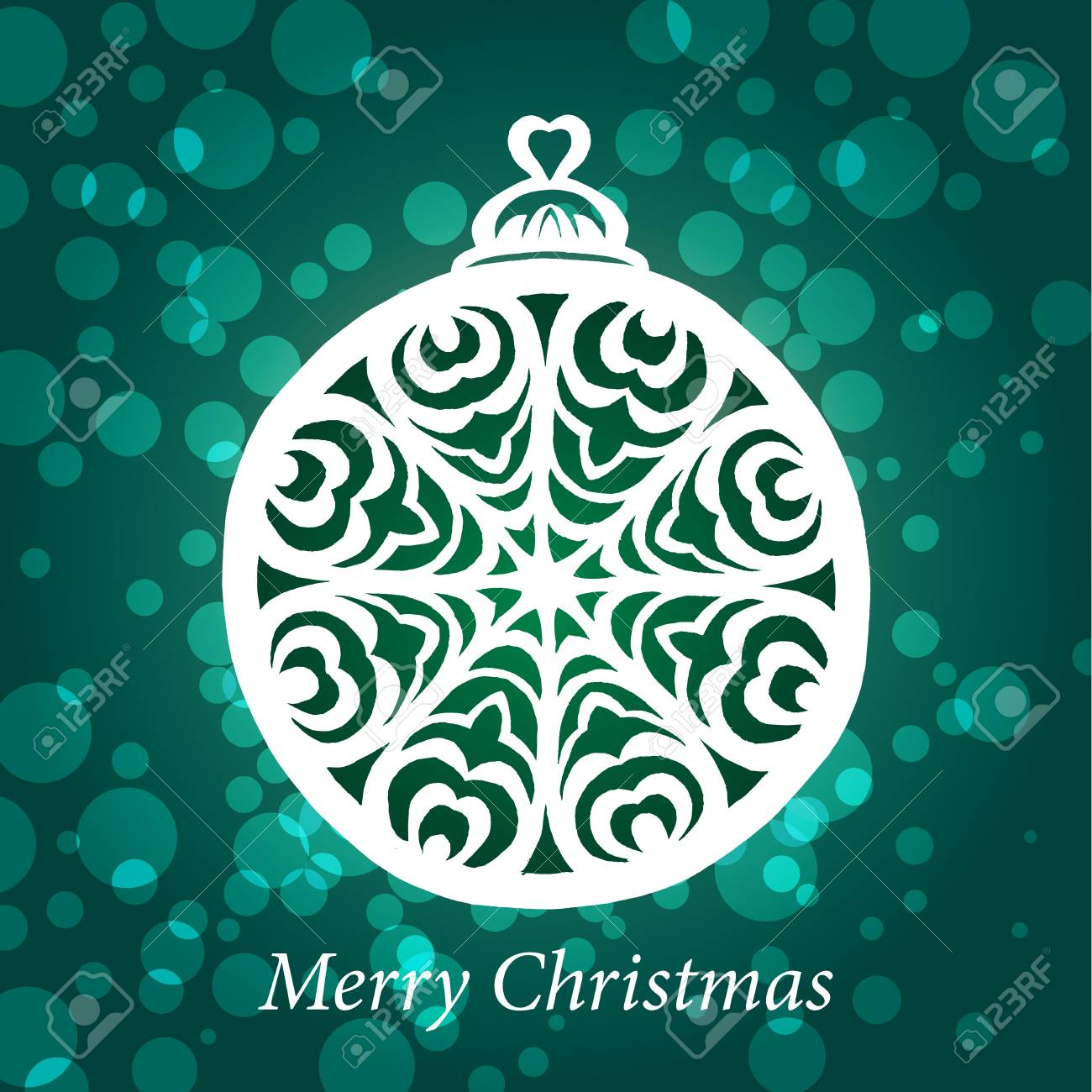 christmas toy snowflake handmade Stock Vector - 18755181