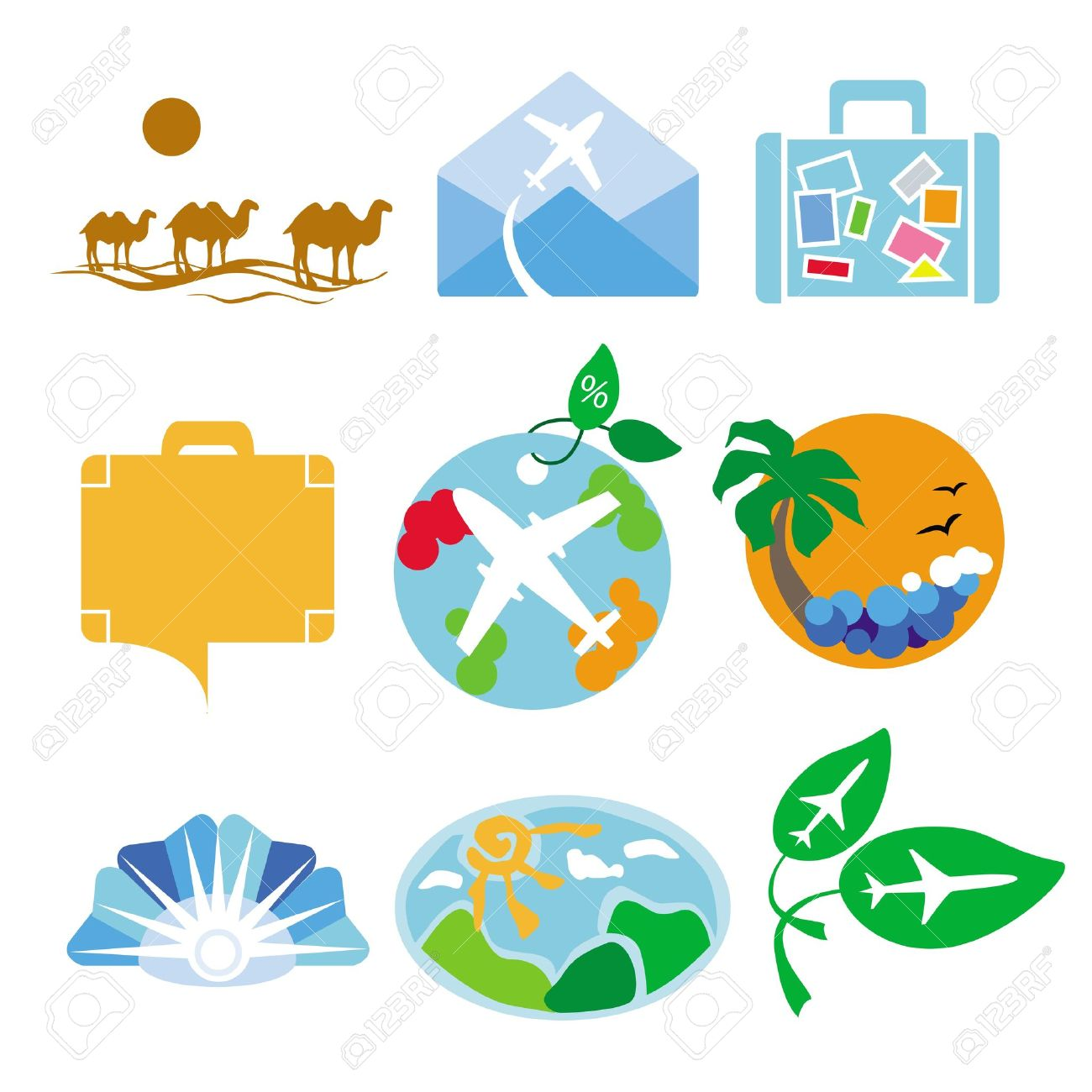 Collection of vector logos for travel agencies Stock Vector - 19584859