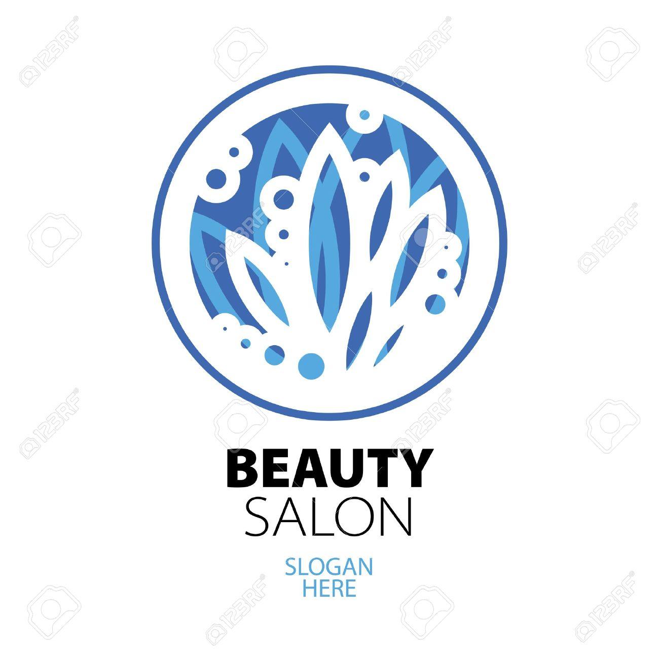 blue ball of leaves logo for beauty salon Stock Vector - 20237222