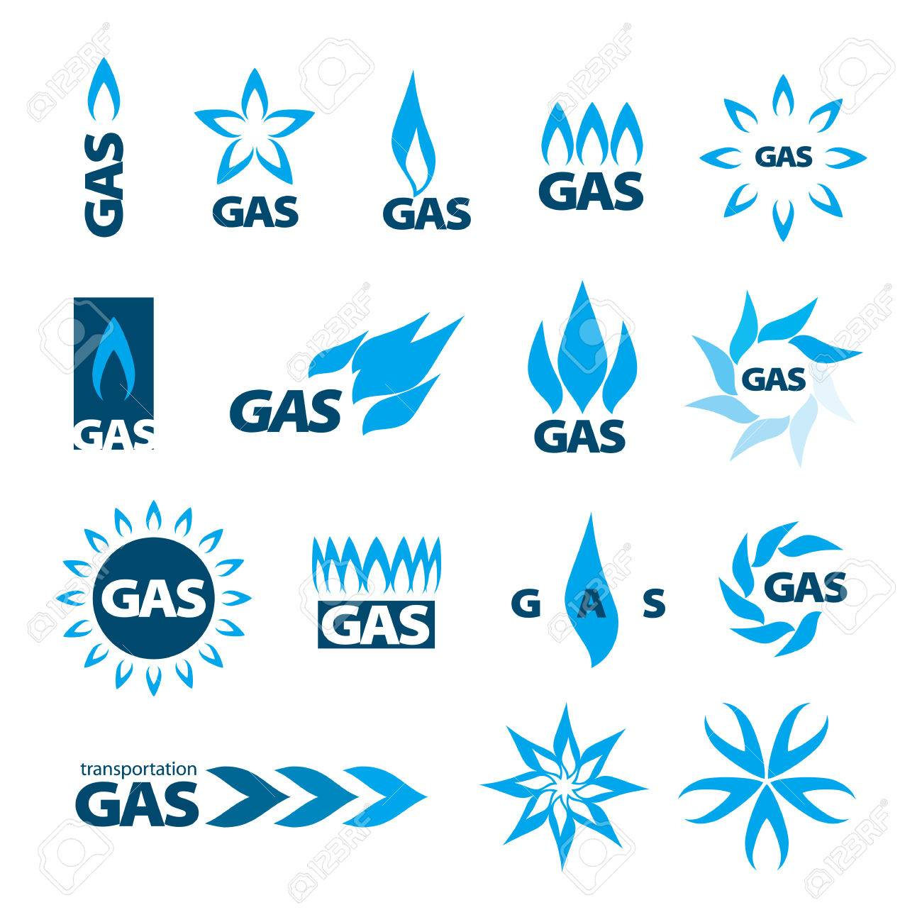 collection of vector icons of natural gas Stock Vector - 24887910