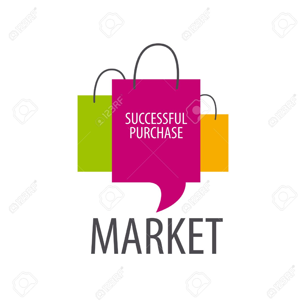 Vector Logo Three Shopping Bags Royalty Free Cliparts, Vectors ...