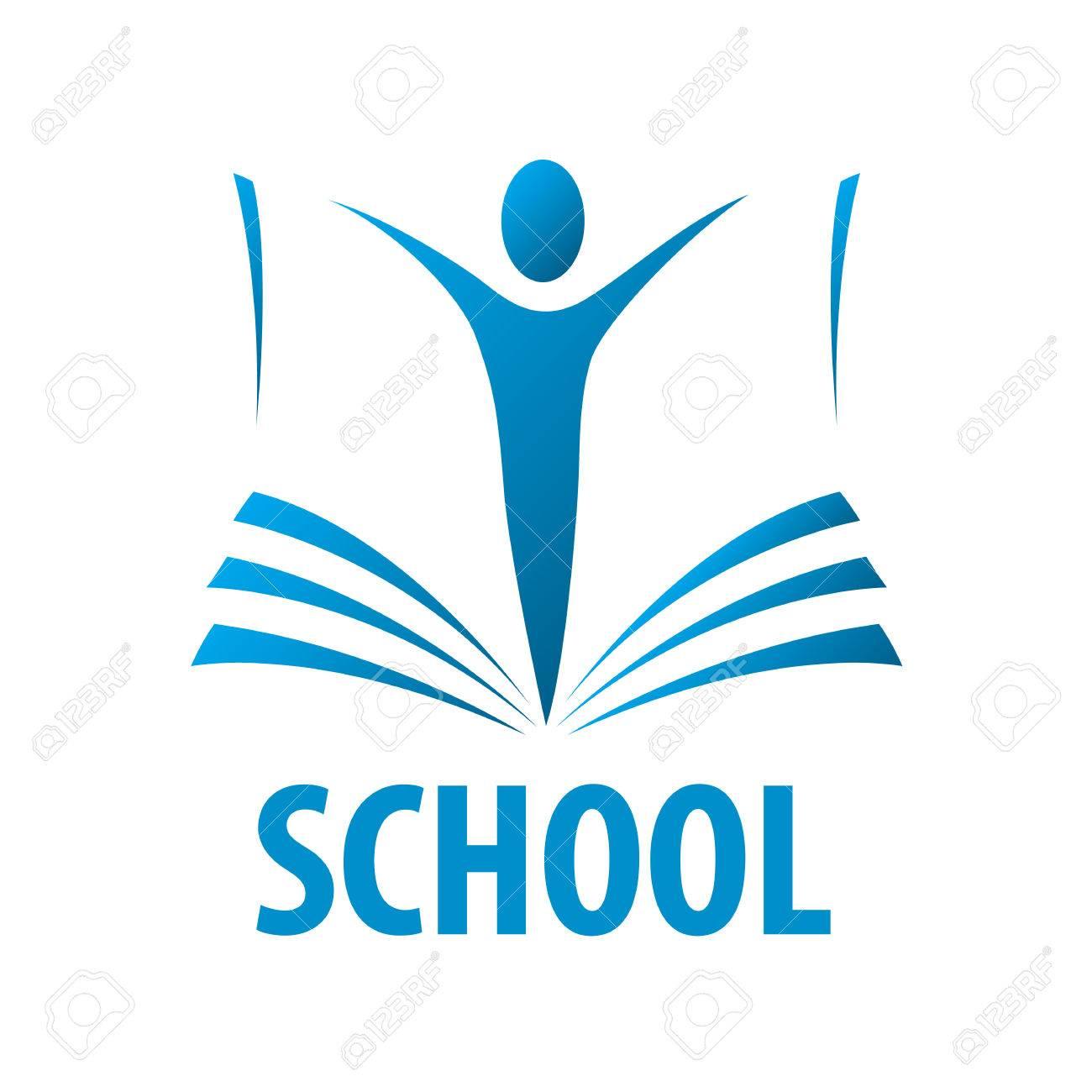 Les Gens Vecteur Logo De L Education Dans Le Livre