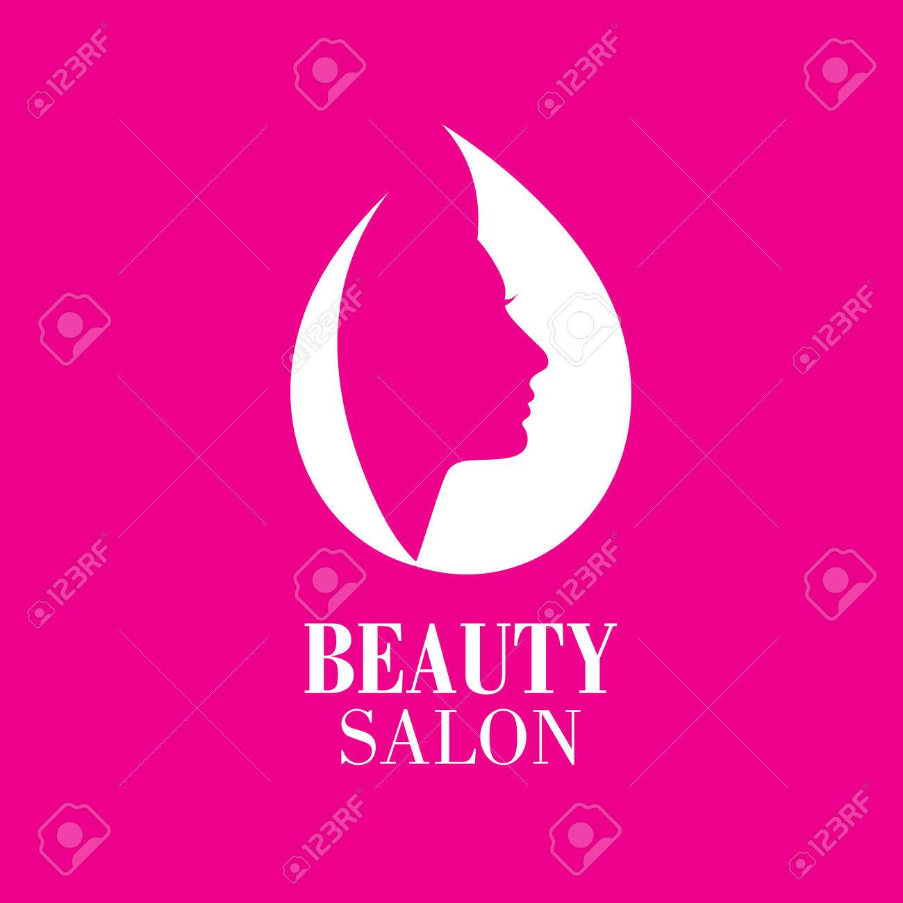 Beauty Female Face Logo Design.Cosmetic Salon Logo Design ...