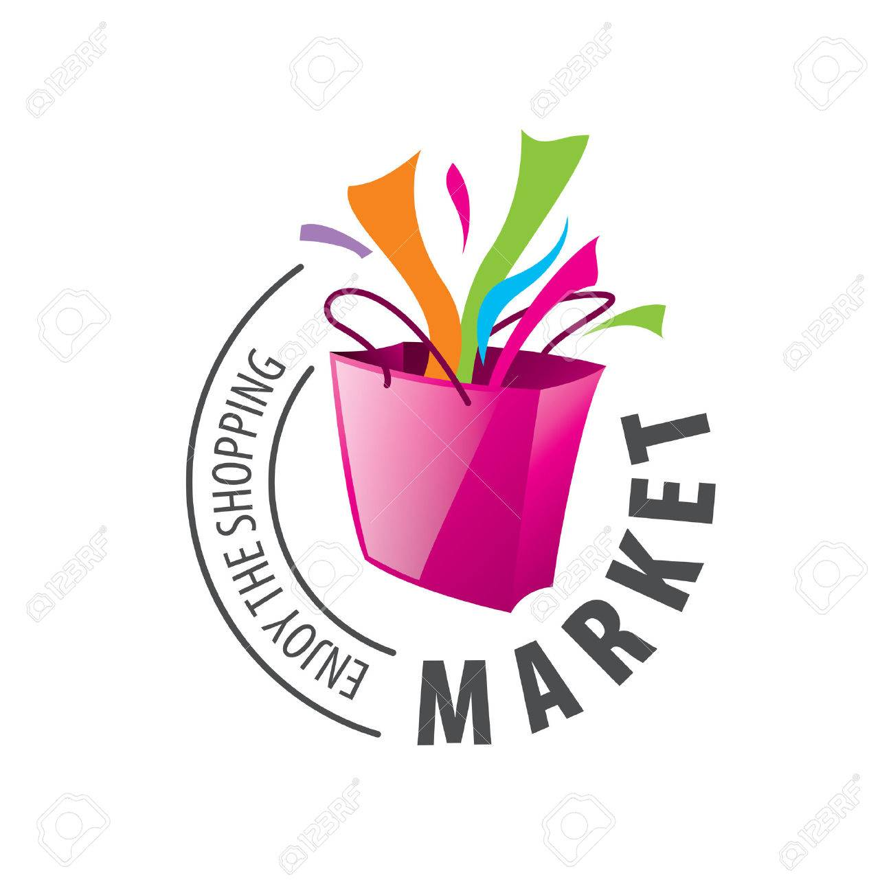 Vector logo template for shopping. Concepts and ideas - 53667696