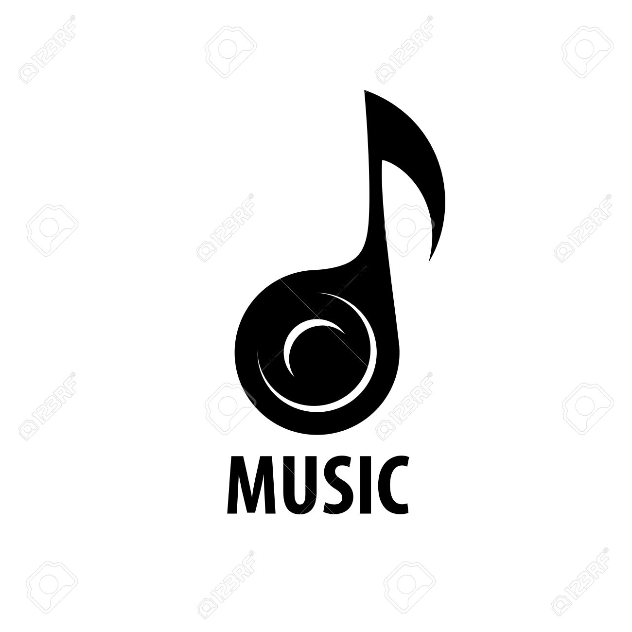 Abstract logo for music and sound. Vector pattern - 54523732