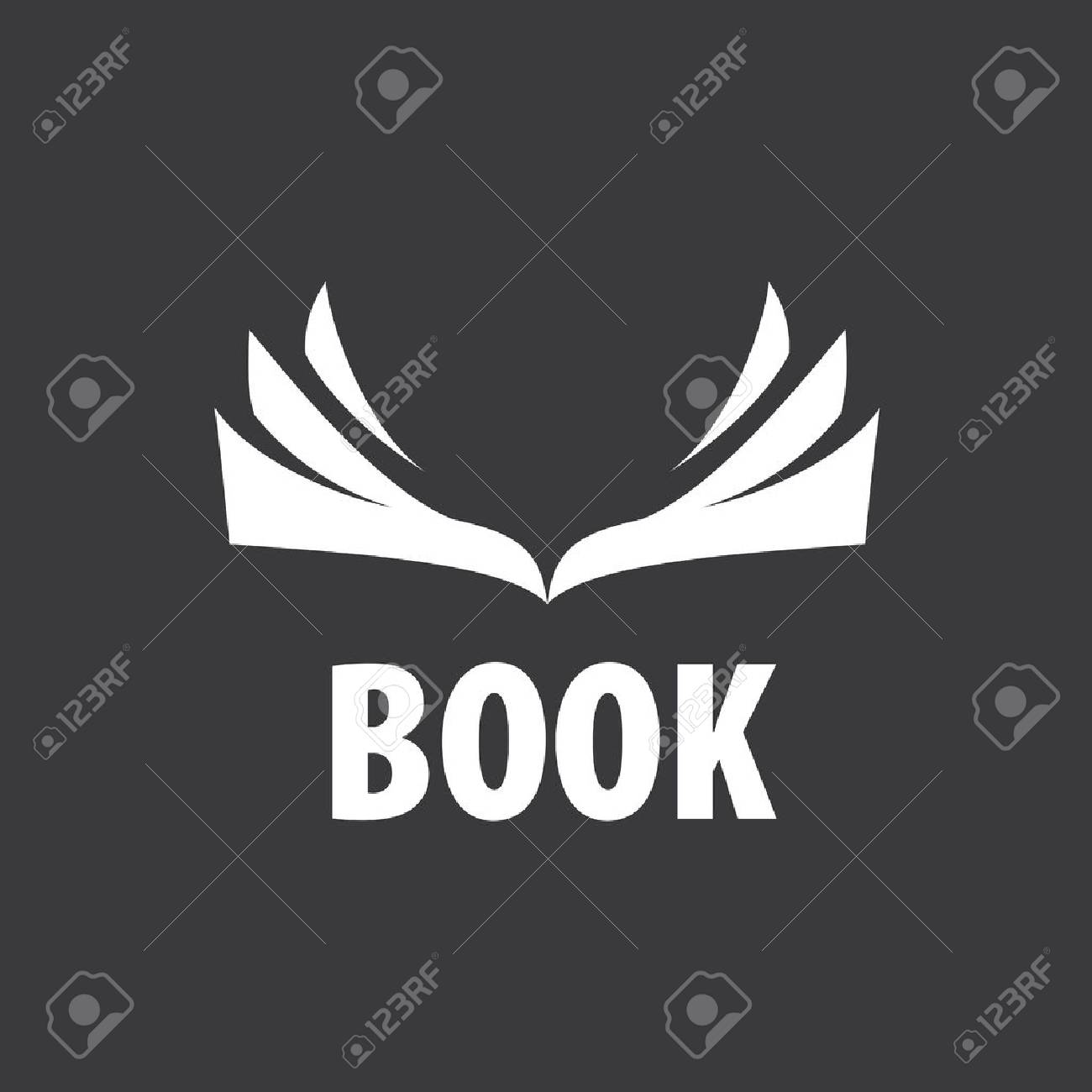 Abstract logo of books and knowledge. Illustration, vector template - 56414399
