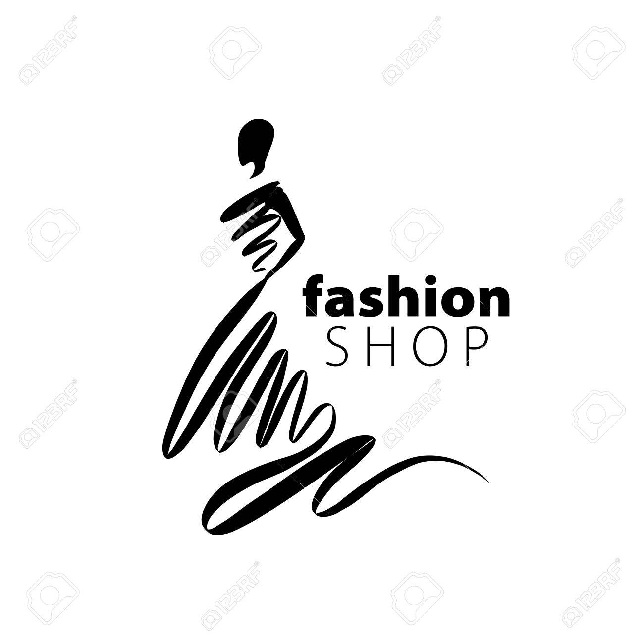 vector logo for womens fashion. Illustration of girl - 58069024