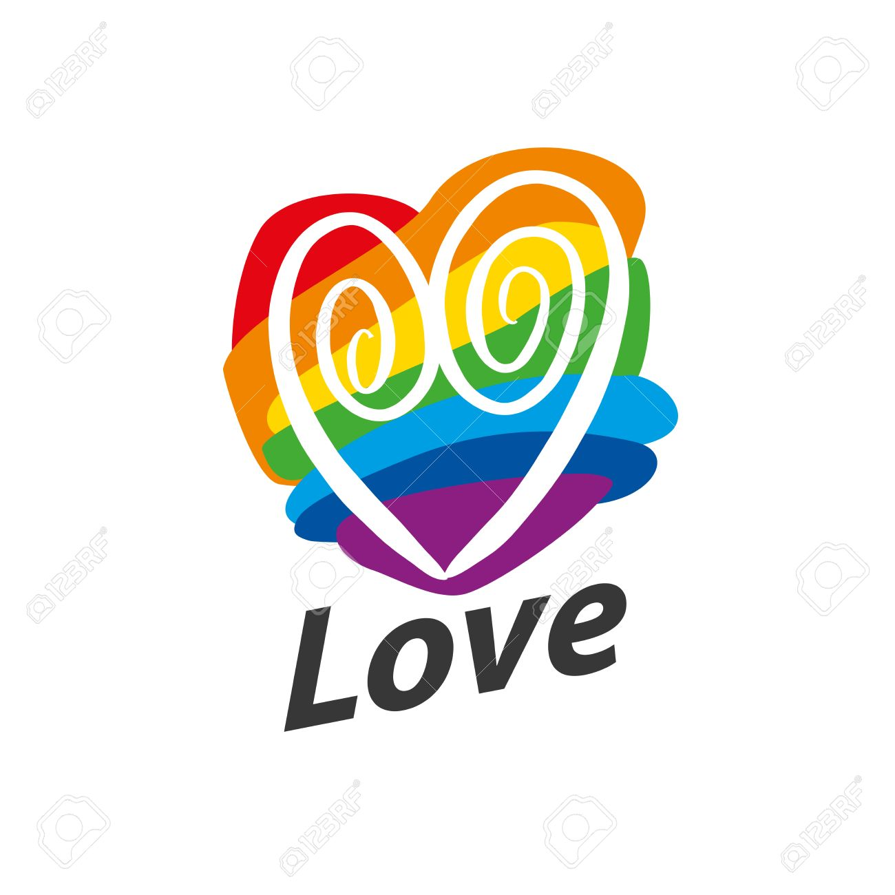 Rainbow heart conceptual design for gay and lesbian support conceptual design for gay and lesbian support symbol lgbt theme vector buycottarizona