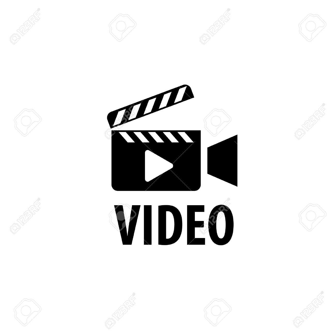 Caméra Vidéo De Modèle De Conception De Logo. Vector Illustration Clip Art  Libres De Droits , Vecteurs Et Illustration. Image 61218396.