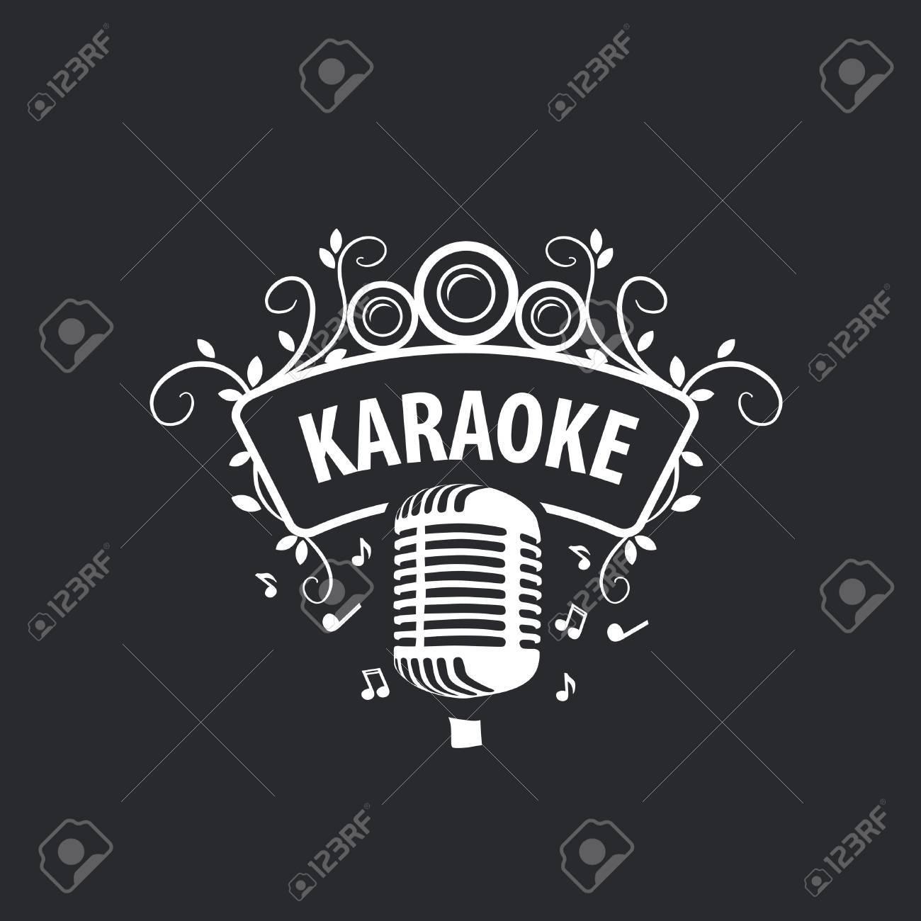 logo design template for karaoke vector illustration of icon